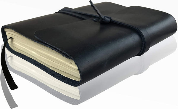 Leather Journal Writing Notebook  Dark Blue