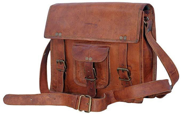 Cuero Bags Genuine Ipad/Ipad 2/ Ipad 3/ Ipad 4/ Tablet Satchel Bag - cuerobags