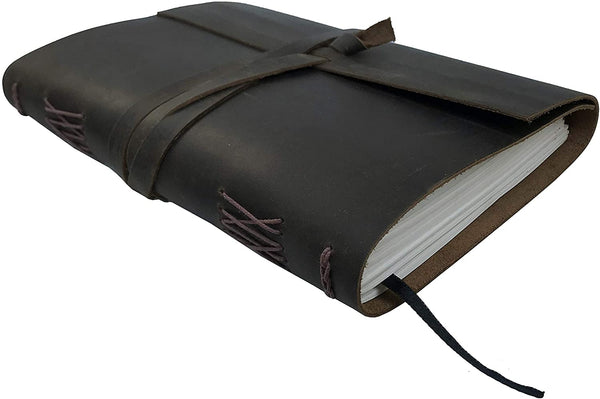 Leather Journal Writing Notebook Dark Brown