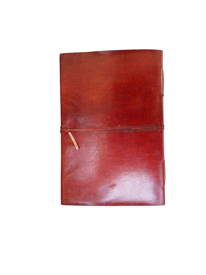 Large vintage heart embossed leather journal Instagram photo album (handmade paper) - cuerobags