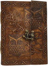 Leather Owl Embossed Sketch Book