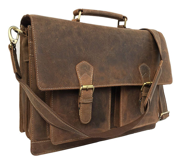 Leather Laptop Messenger Bag Vintage B07MCJ7CSC