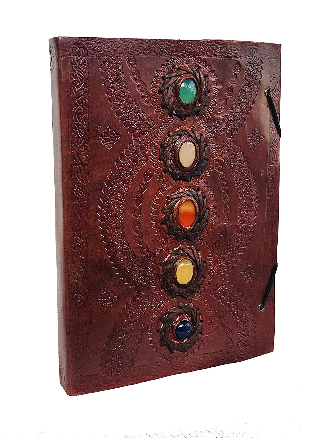 Leather Journal Book Medieval Stone Embossed Handmade Book of Shadows Notebook Office Diary College Book Poetry Book Sketch Book 10 x 7 inches - cuerobags