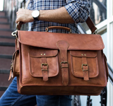 mens leather messenger bag | mens leather business bags | Messenger Bag cum Briefcase | leather briefcase for men, small leather suitcase