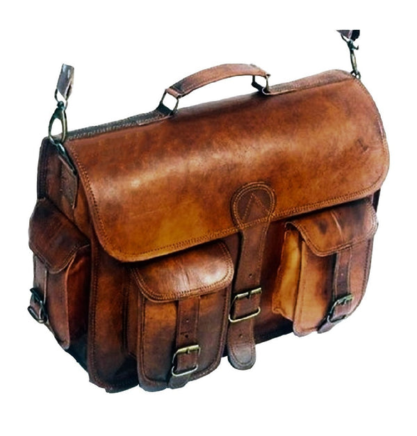 Buy leather suitcase | Handmade Padded Leather Bag