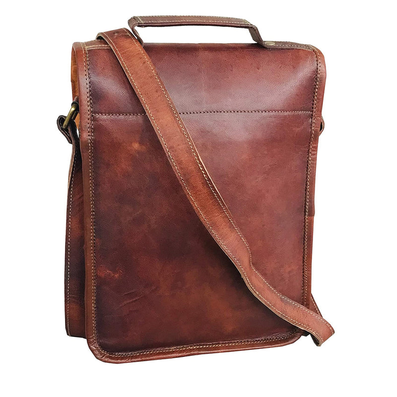 Ipad Satchel Cross Body Leather Bag