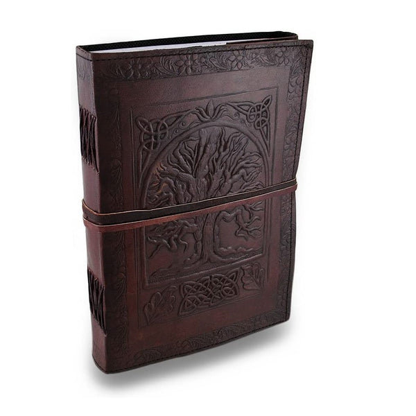 Leather Journals Fair Trade Tree Of Life Design