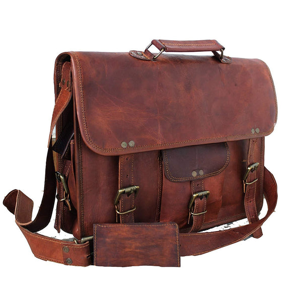 Unisex Leather Satchel Bag