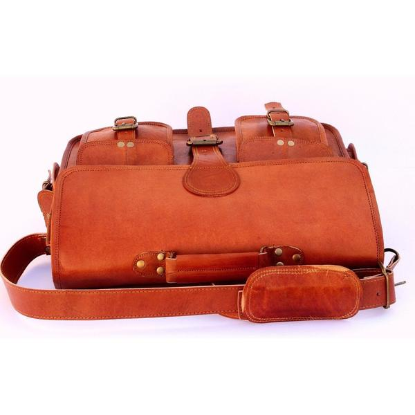 HANDMADE LEATHER BRIEFCASE SATCHEL FOR THE FASHIONISTA 15"
