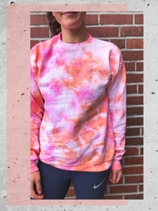 Just Peachy Crew | Tie Dye
