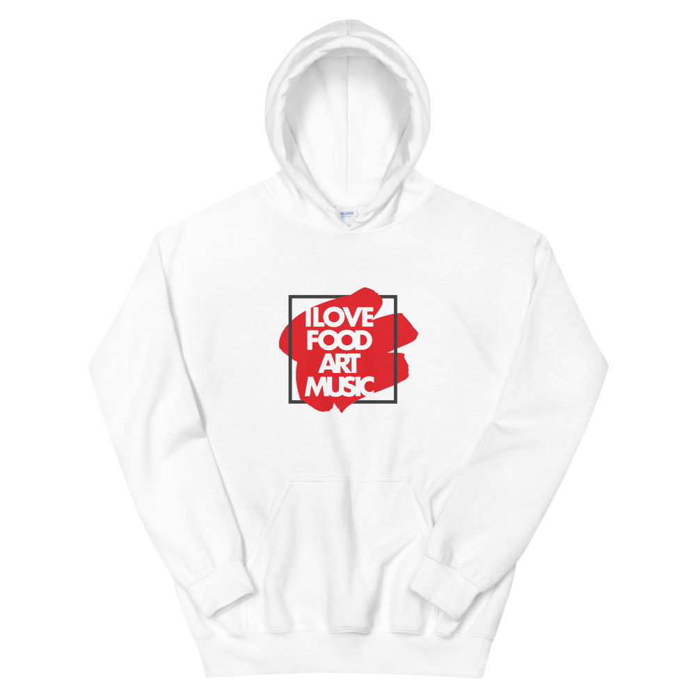 I Love Food Art Music - Unisex Hoodie