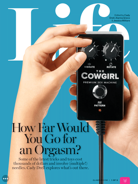 The Cowgirl Sex Machine featured in Glamour