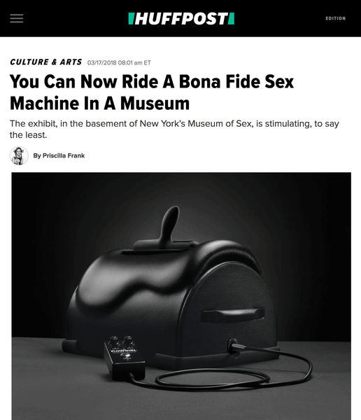 The Cowgirl Premium Sex Machine featured in Huffpost