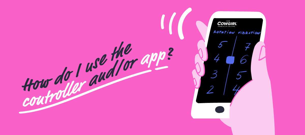 Tips to Get You Started on The Cowgirl & Unicorn Sex Machines - How to use the controller and app - The Cowgirl Blog