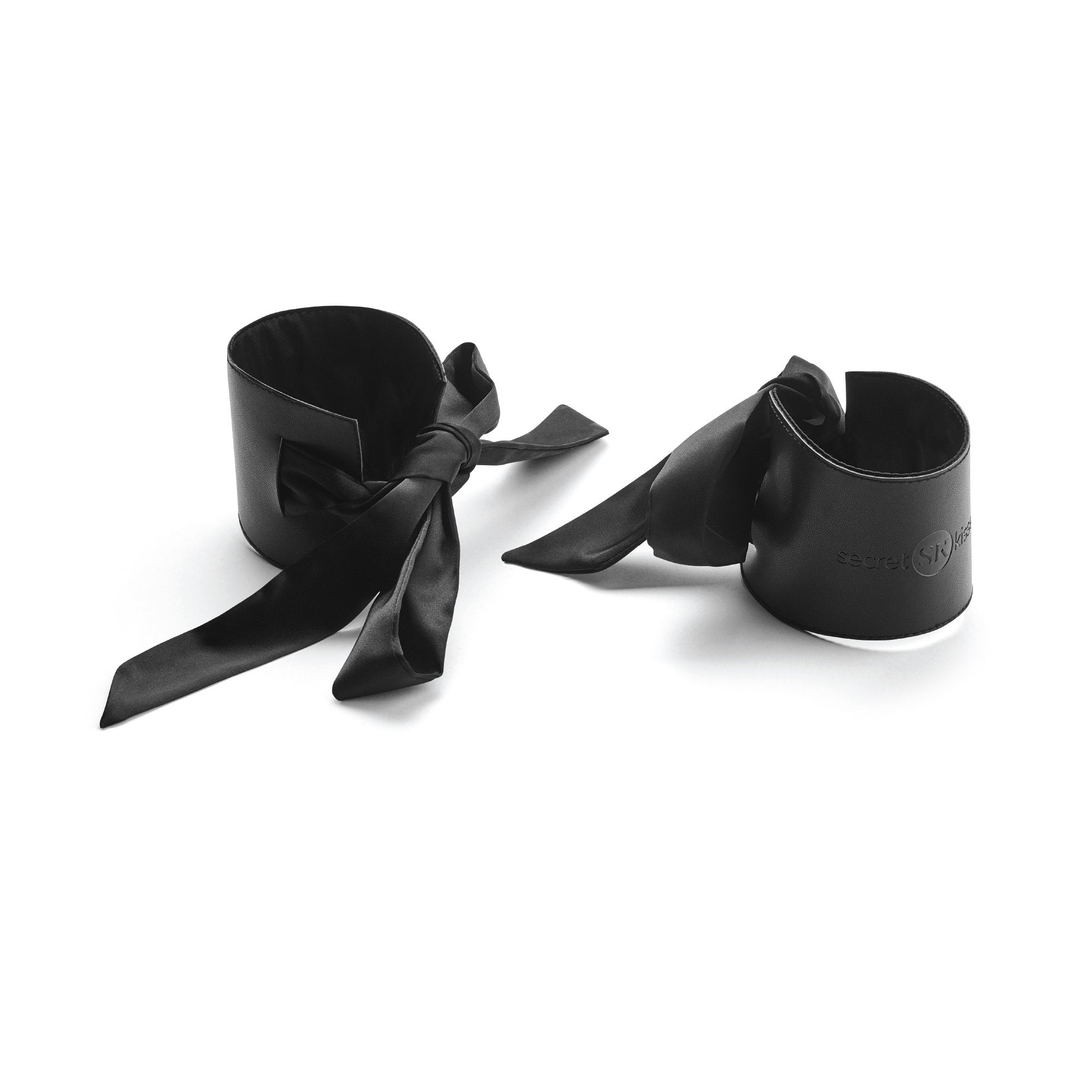 Black Satin Cuffs at The Cowgirl Shop