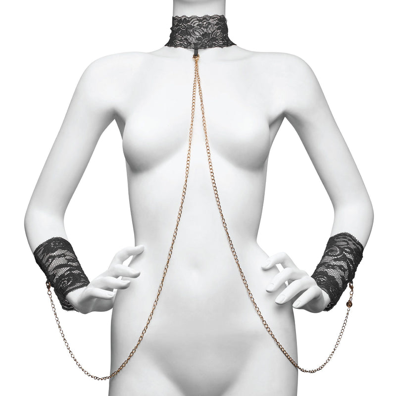 Lace Collar and Cuff for luxurious BDSM play at The Cowgirl Shop