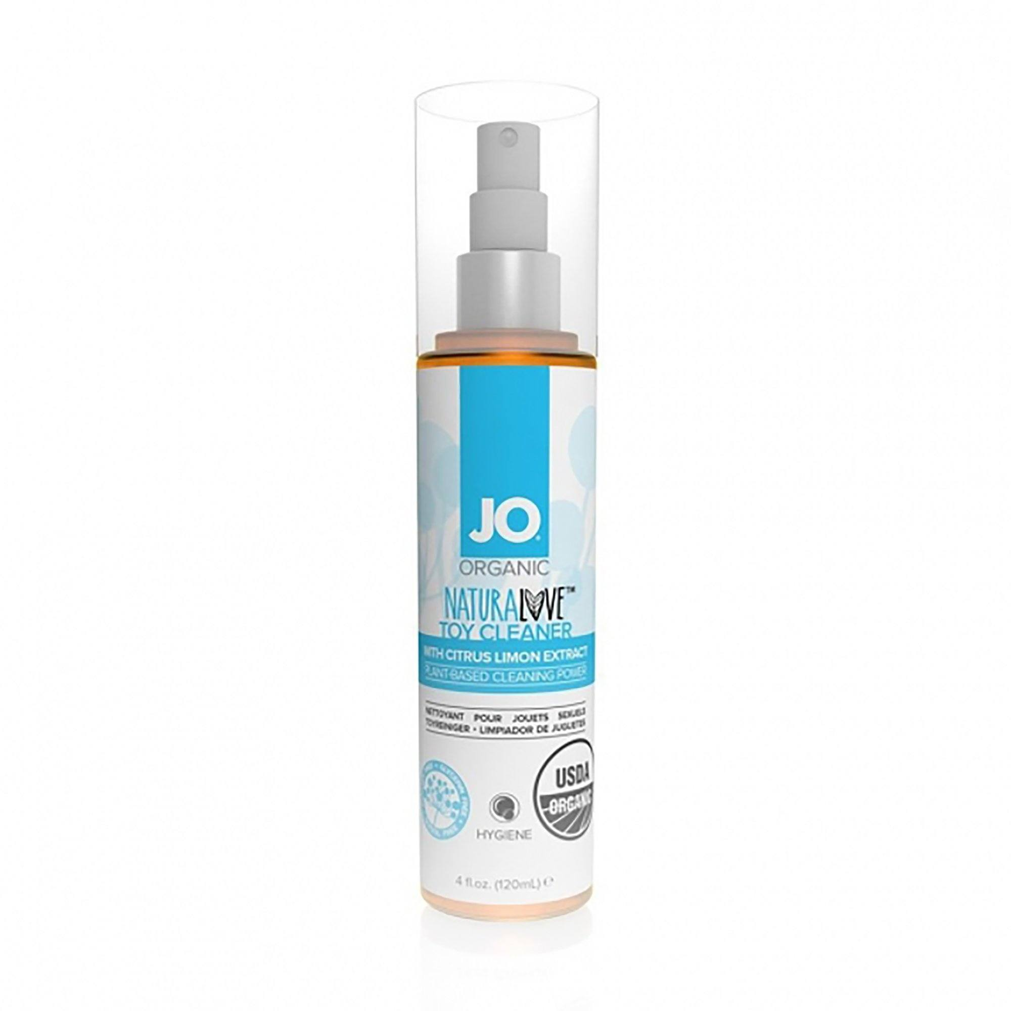 System JO NATURALOVE Organic Toy Cleaner 4 fl.oz. (120 mL) - The Cowgirl Shop