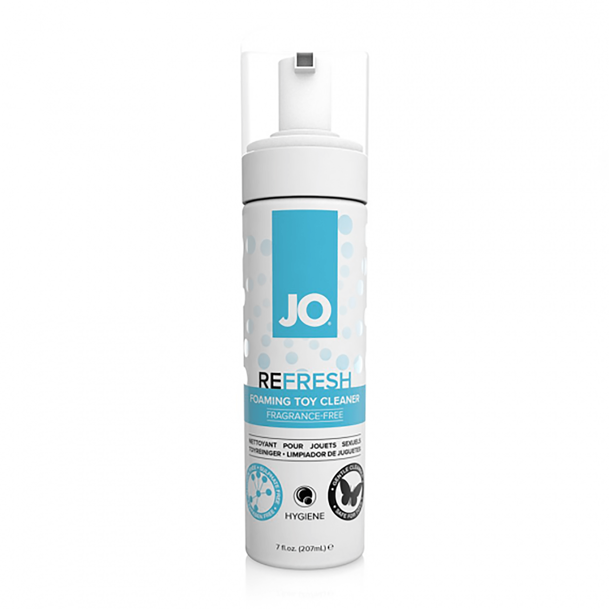 System JO Refresh Foaming Toy Cleaner 7 fl.oz. (207 mL) - The Cowgirl Shop