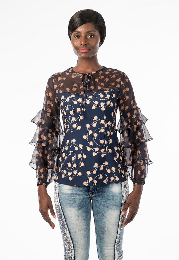 Calabash Classic Lace Top Long Sleeves