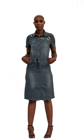 Denim Butterfly Dress