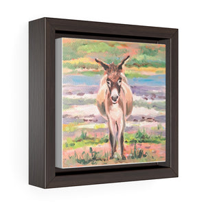 Open image in slideshow, South Caicos Donkey #2 Print on Square Framed Premium Gallery Wrap Canvas