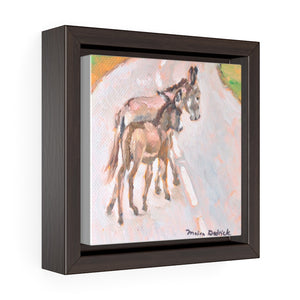 Open image in slideshow, South Caicos Donkey #4 Print on Square Framed Premium Gallery Wrap Canvas