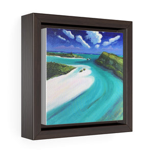 Open image in slideshow, Jerry Camp, South Caicos, TCI Print on Square Framed Premium Gallery Wrap Canvas