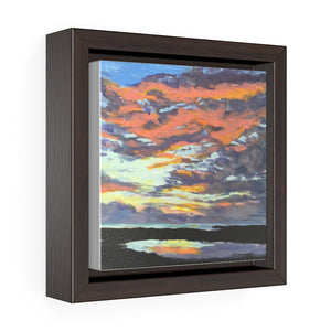Open image in slideshow, Turks and Caicos Sunset #2 Print on Square Framed Premium Gallery Wrap Canvas