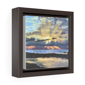 Open image in slideshow, Turks and Caicos Sunset #3 on Square Framed Premium Gallery Wrap Canvas