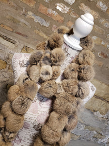 Tan Rabbit Fur Scarf