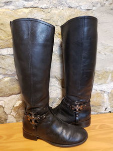 Tory Burch Leather Riding Boots