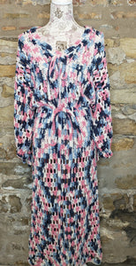 Vintage Multi-Color Handmade Crochet Dress Sz M/L