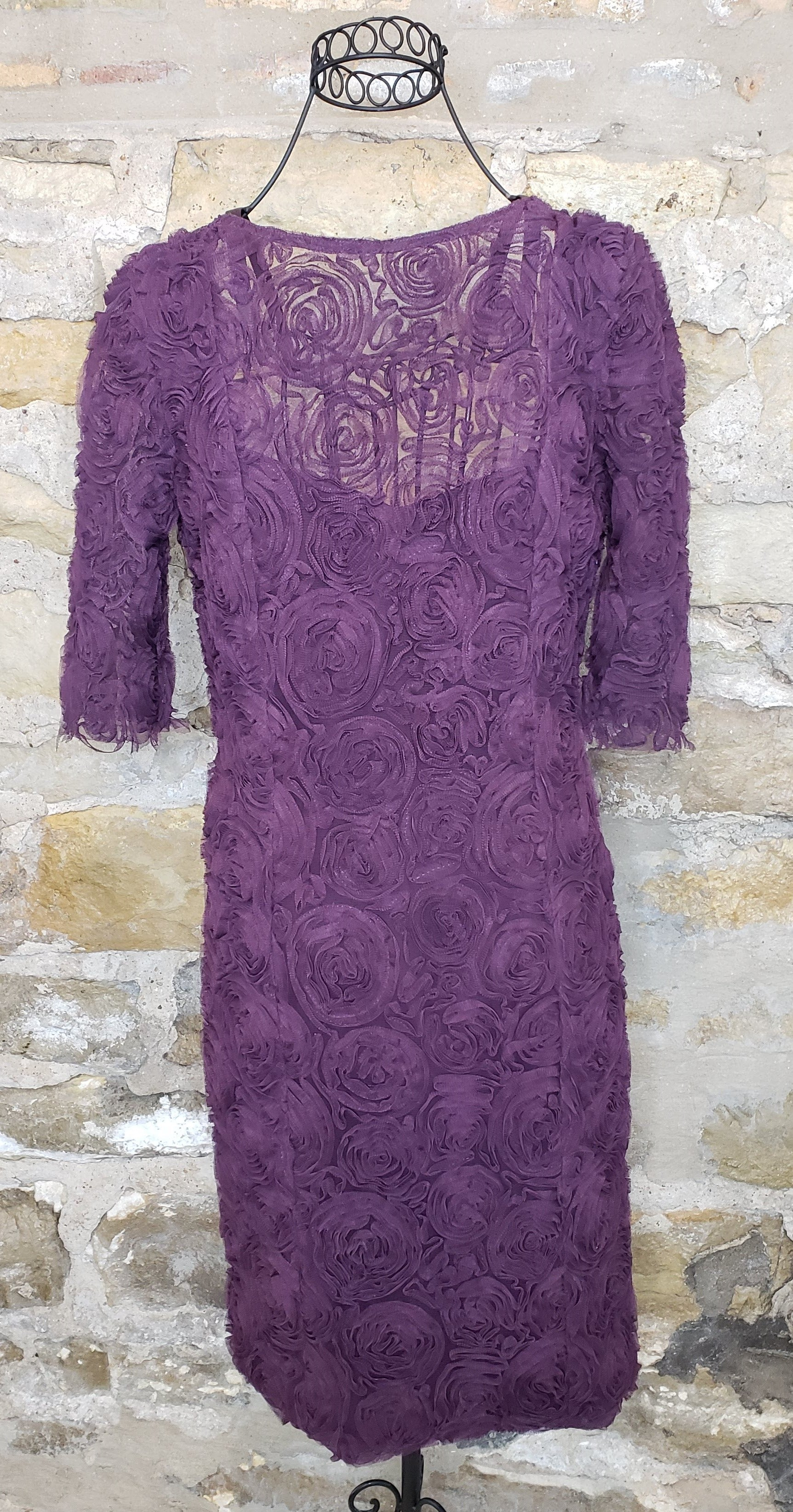 Rachel Roy Purple Rosette Dress Sz 8