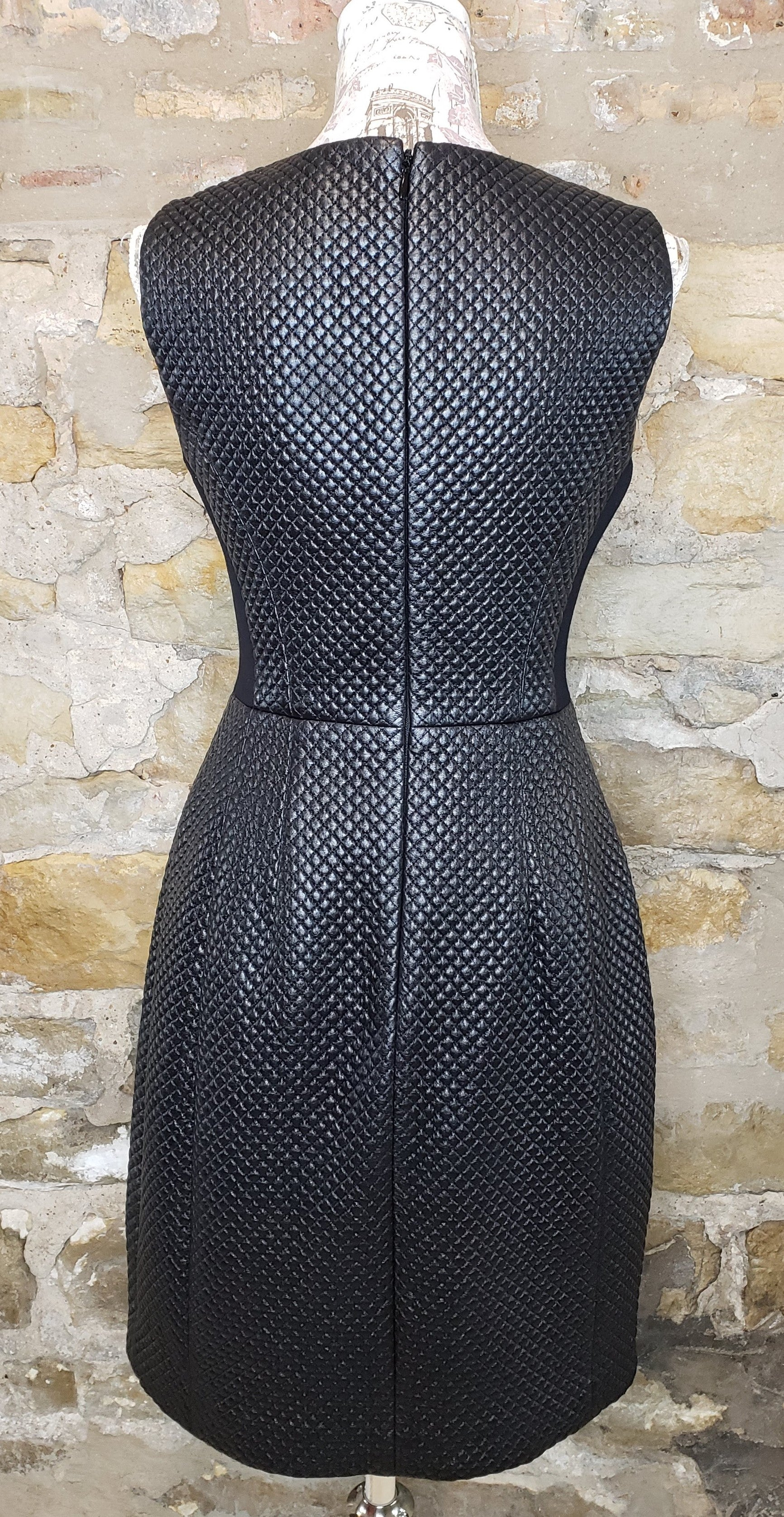 BCBG MaxAzria Quilted Leather Dress Sz 6