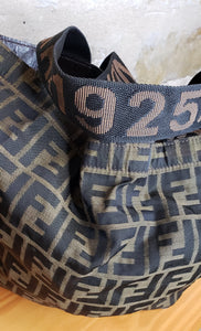 Fendi Vintage Convertible Shopping Tote