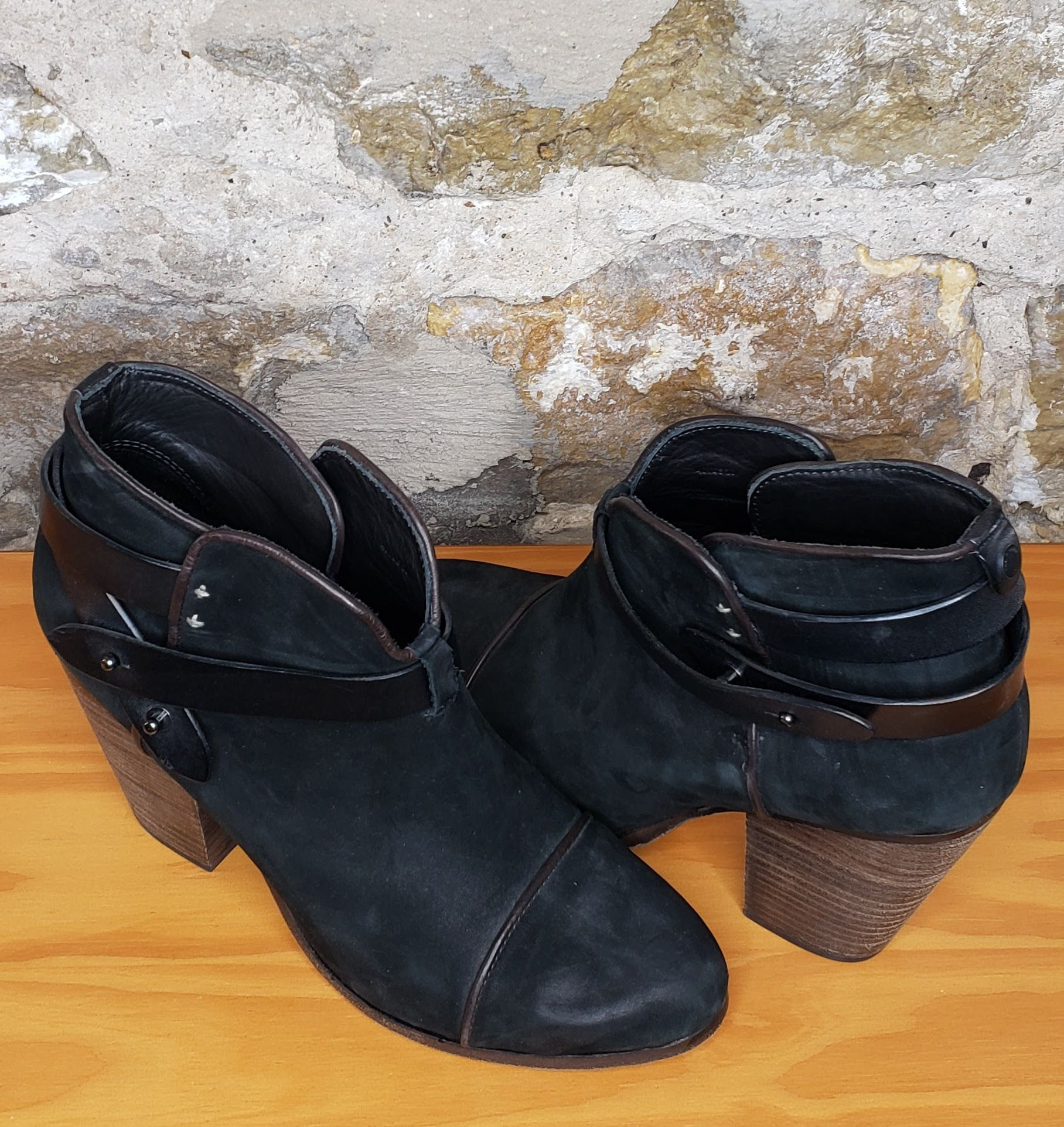 Rag & Bone Black Leather Bootie Sz 40