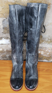 Freebird by Steven Black Distressed Leather Riding Boots Sz 8