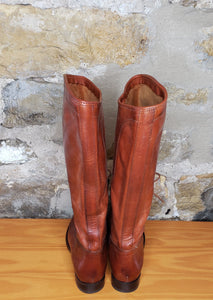 Frye Brown Distressed Leather Riding Boots