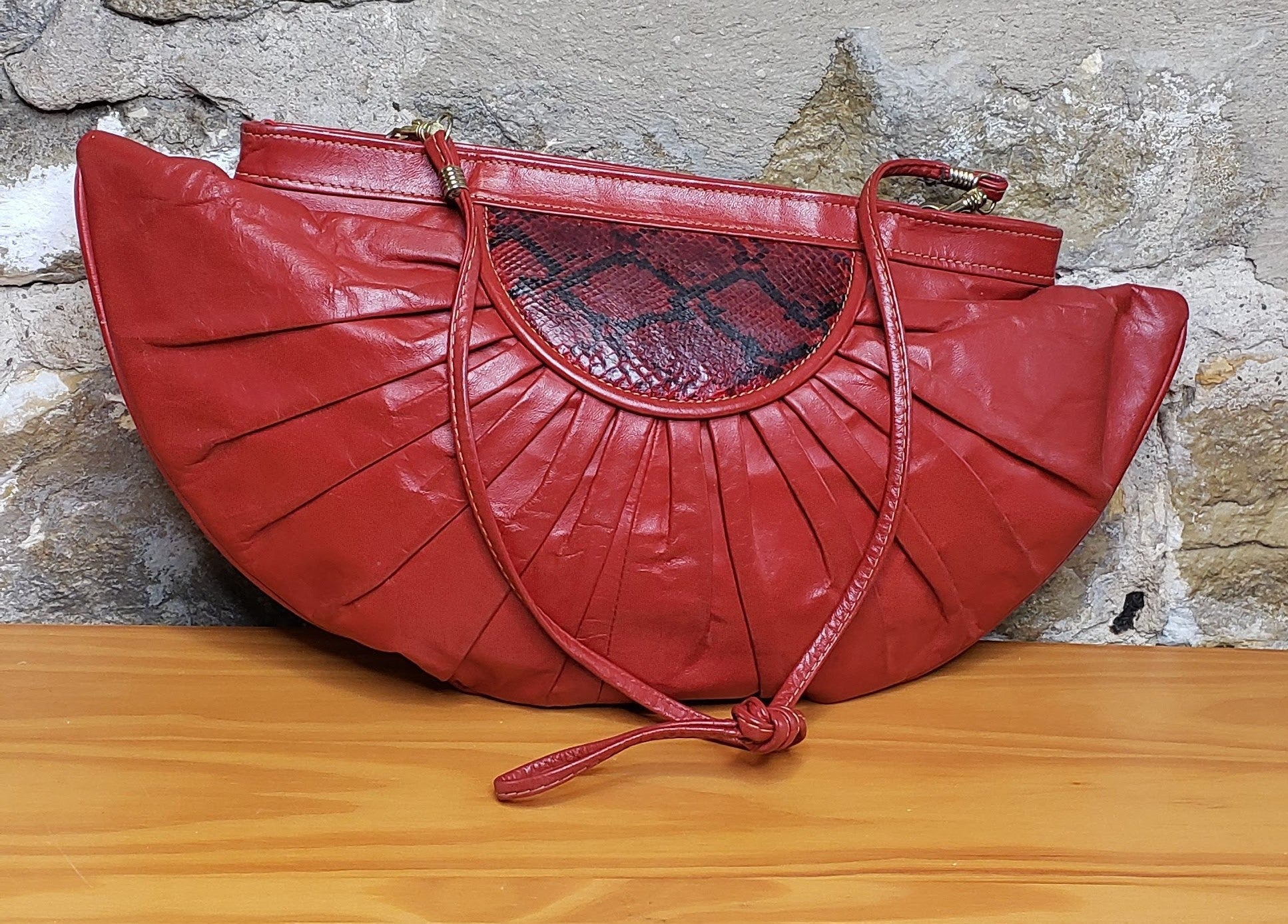 Vintage Red Leather Purse