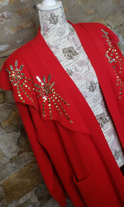 Designs Limited Red Vintage Duster Sz XL