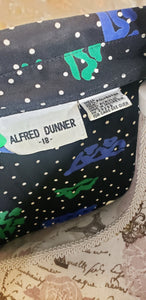 Alfred Dunner Two Piece Multi-Color Set Sz 18
