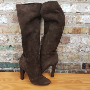 Jimmy Choo Brown Suede Knee Boots Sz 38