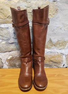 Tory Burch Brown Leather Riding Boots Sz 6M