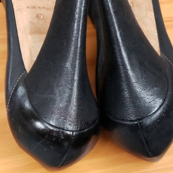 Dior Black Leather Heels Sz 40