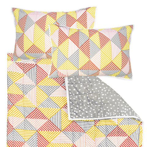 Billie Coral Double Quilt Set
