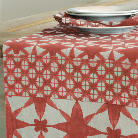 Ren Patch Coral Table Runner