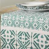 Ramos Patch Mineral Green Table Runner