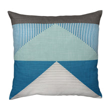 Load image into Gallery viewer, Linear Teal Cushion