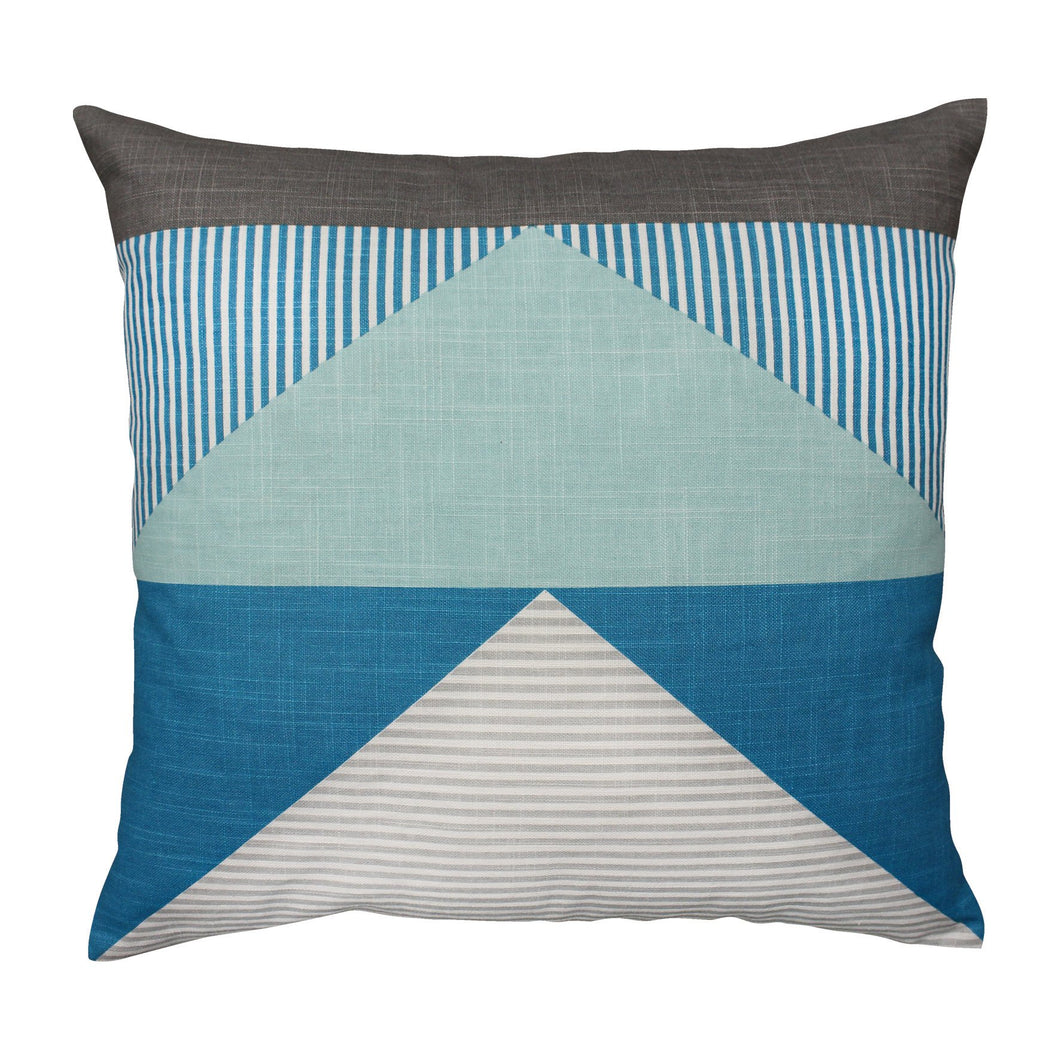 Linear Teal Cushion
