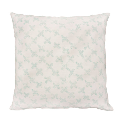 Stockholm Block Print Mint Cushion